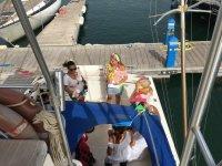 De despedida en el barco en Sancti Petri