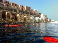 Excursion en kayaks de colores