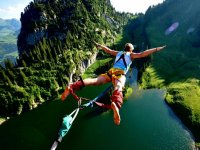 Bungee jumping over the river.JPG