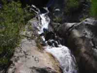 Descendiendo el tobogan acuatico