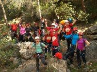 Grupo de aventureros en Valencia