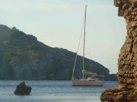 Traveling along the coast of Girona by boat