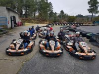 Karting fans in the circuit