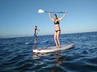 黎凡特海岸的划桨冲浪