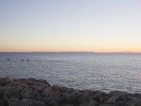 梅诺卡岛海滩的景色