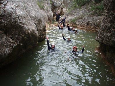 Barranquismo en río Glorieta Sierra de Prades