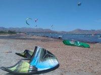 Cometas en la playa de Mallorca