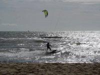 Kite junto a la orilla mallorquina