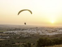 Volando con el atardecer andaluz