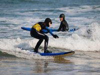 Surfing with full wetsuit
