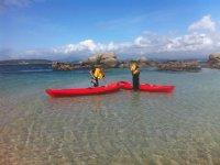 Saliendo del Atlantico en kayak