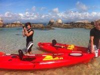 Tomando fotos en Areoso