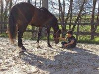 Aprendiendo confianza con el caballo