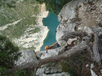 Climbing up a Via Ferrata