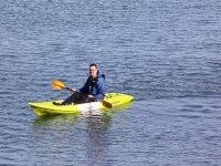 probando el kayak