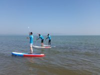 Entering the sea with SUP boards