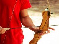 Preparando la flecha en el arco