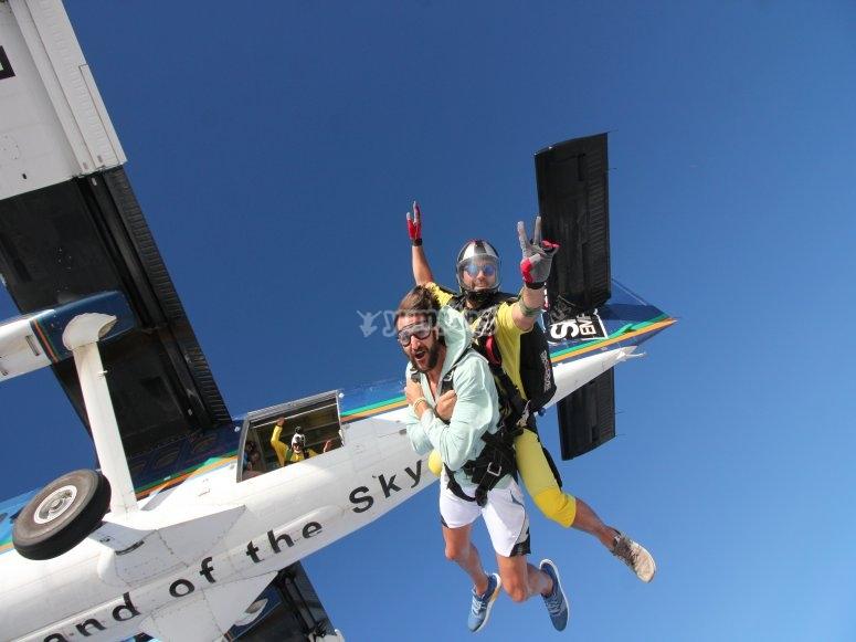 Parachute jump in Empuriabrava