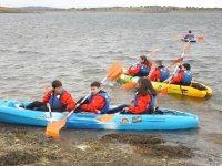 Canoas en el campamento