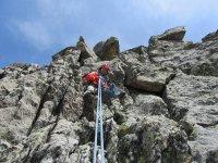 在比利牛斯山脉攀登