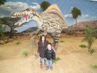 con los dinosaurios
