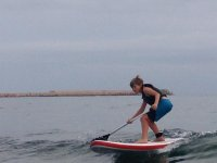 First contact with the sup in waves