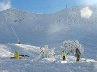 一个好办法由开始时的滑雪叉口