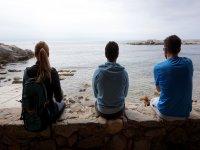 Descansando mirando hacia el Mediterraneo
