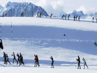滑雪广泛的背景