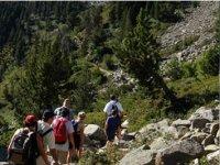 徒步旅行在阿兰绿谷景观