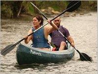Canoa lungo il Sella