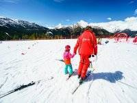 Ski initiation classes for children and adults