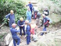 Pratica speleologia nelle Asturie