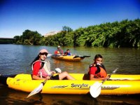 On the river with rafting raft