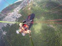 Grabando el vuelo autonomo en parapente