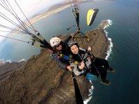 Experiencia de vuelo tándem en Lanzarote