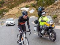 Seguimiento de la prueba ciclista