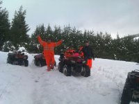 Rutas en quad con nieve