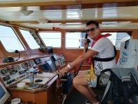 Aprendiendo los controles del barco