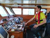 在船上的控制面板