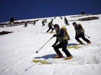 Practicar esquí