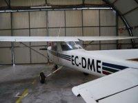 L'aeromobile nell'hangar