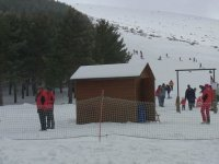 测试跟踪滑雪胜地Rawah端口的滑雪景区