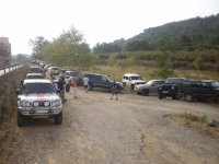 Group of SUVs