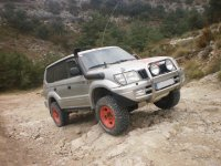 Off-road on the rocks