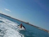 Moto de agua en Tabarca