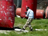 Running in the paintball field