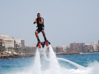Going up whilst flyboarding
