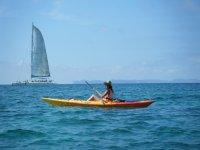 Mix canoes overlooking Cabrera