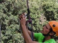 Ajustando la cuerda